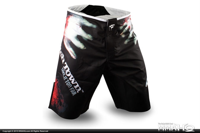 PunchTown The Dead Black Fight Shorts